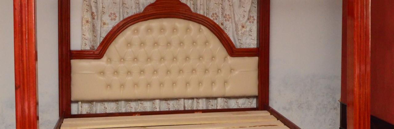 High pole bed frame