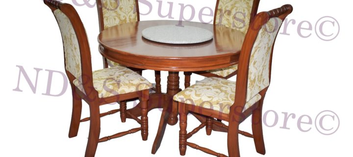 Granite Lazy Susan Dinette Set