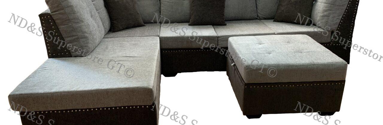 L-Shape Sofa With Ottoman